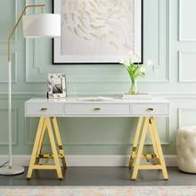 Jettison Office Desk in Gold White
