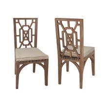 Teak Garden Dining Chair Cushion in Cream