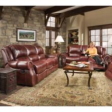 See Details - Hanover Aspen 100% Genuine Leather 2-Piece Set: Double-Reclining Sofa and Gliding Console Loveseat, Oxblood, HUM003SET2-OB