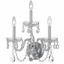 See Details - Traditional Crystal 3 Light Swarovski Crystal Chrome Sconce