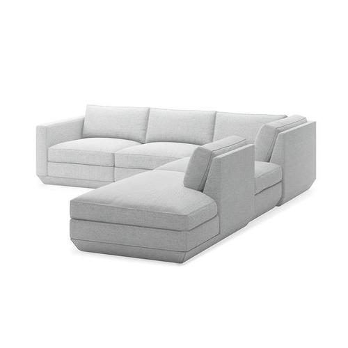 Product Image - Podium 5PC Seating Group A New Bayview Silver / Right Facing