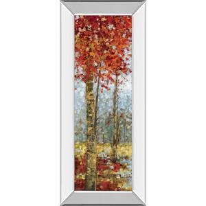 """Crimson Woods I"" By Carmen Dolce Mirror Framed Print Wall Art"