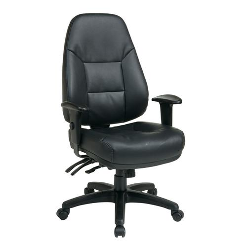 Deluxe Multi Function High Back Bonded Leather Chair