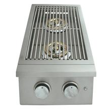 See Details - Premier Double Side Burner w/ LED Lights - RJCSSBL - Natural Gas