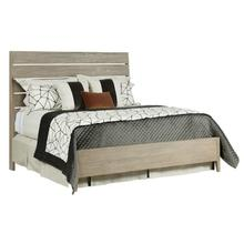 View Product - Incline Oak Queen Bed Medium Footboard - Complete
