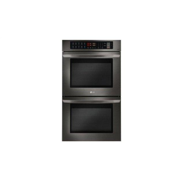 LG Appliances LG Black Stainless Steel Series 9.4 cu. ft Total Capacity Double Wall Oven