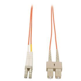 Duplex Multimode 50/125 Fiber Patch Cable (LC/SC), 15M (50 ft.)