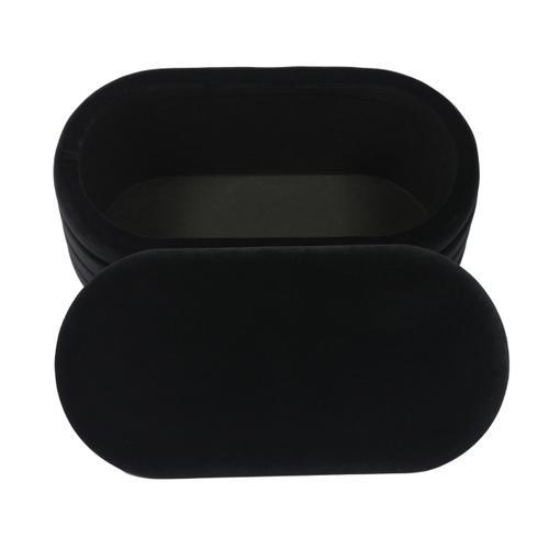 Lillian Black Velvet Storage Bench