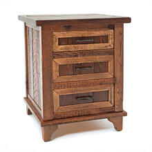 View Product - Pagosa Springs - 3 Drawer Nightstand