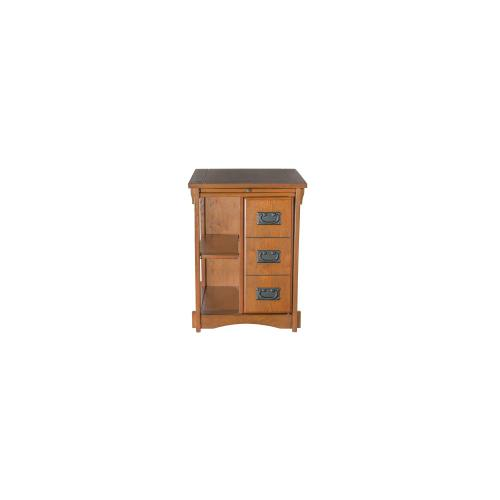 2-shelf and Magazine Rack Back Cabinet Table, Mission Oak