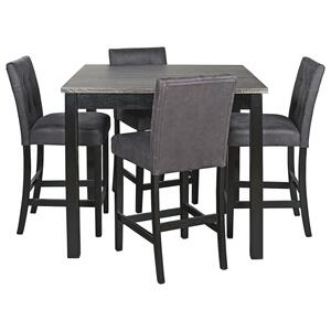 Ashley FurnitureSIGNATURE DESIGN BY ASHLEYGarvine Counter Height Dining Room Table and Bar Stools (set of 5)