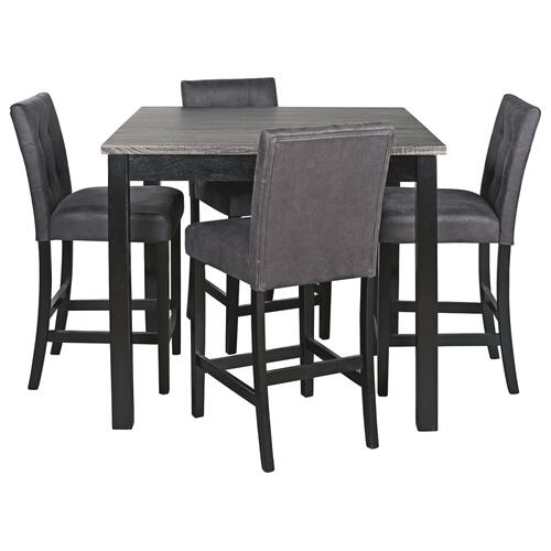 Garvine Counter Height Dining Table and Bar Stools (set of 5)
