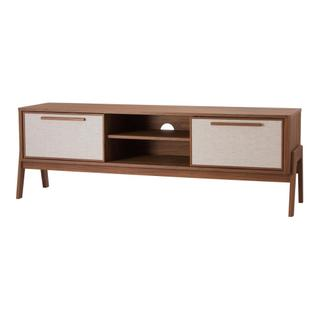 """See Details - Heaton 60"""" KD Low TV Stand, Walnut (ASSEMBLY REQUIRED)"""