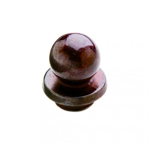 """Rocky Mountain Hardware - Small Ball Finial Cap 5/8"""" Barrel Silicon Bronze Brushed"""