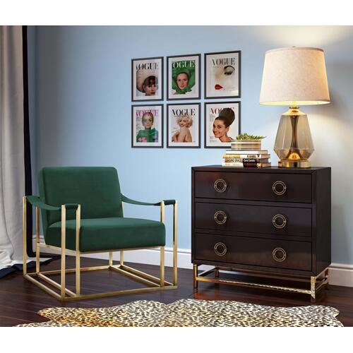 Baxter Forest Green Velvet Chair