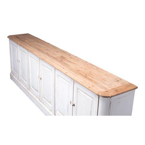 Antique Whitewash Sideboard, 6 Door