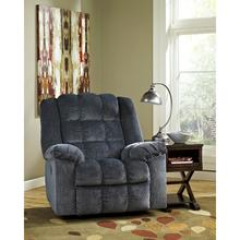 Signature Design by Ashley Ludden Power Rocker Recliner in Blue Twill