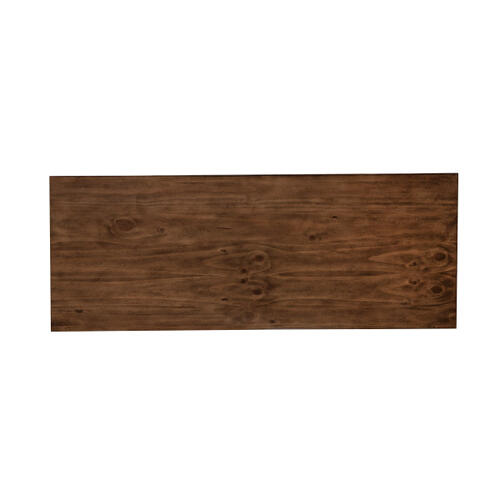 Minimalist Modern Wooden Bench in Brown