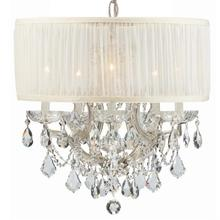 Brentwood 6 Light Crystal Chrome Drum Shade Mini Chandelier