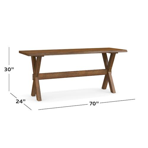 "Bench*Made Maple Crossbuck 70"" Desk"
