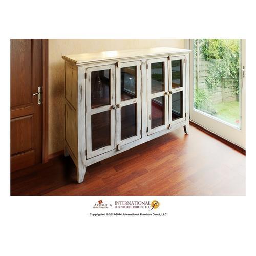 White Console w/4 Doors