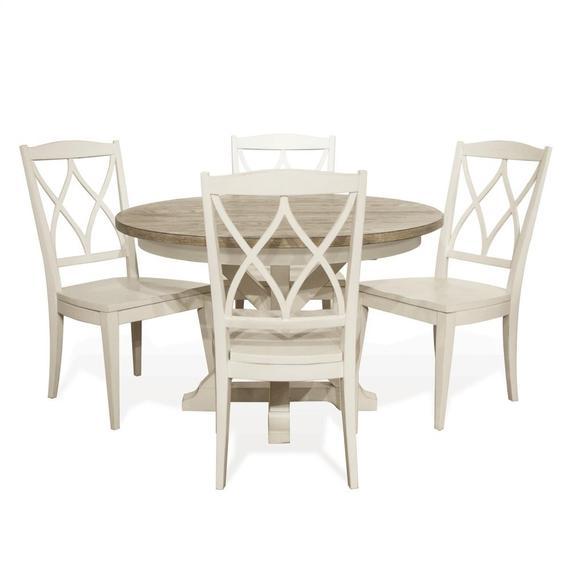 Riverside - Myra - Xx-back Side Chair - Paperwhite Finish