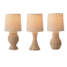 Woven Wicker Accent Lamp. 40W max. (3 pc. ppk.)