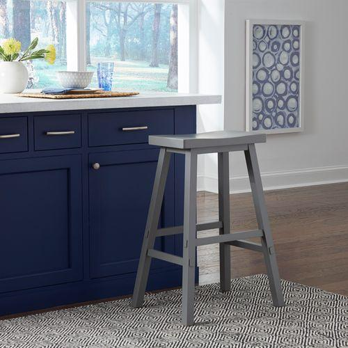 Liberty Furniture Industries - 30 Inch Sawhorse Stool- Gray
