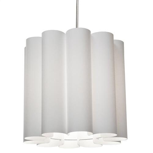 1lt Sandra Pendant Milano White Polished Chrome