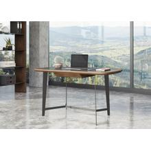 Modrest Girard - Modern Walnut & Black Glass Desk