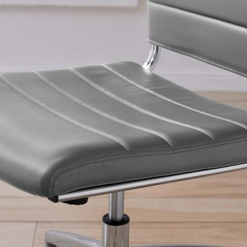 Jive Armless Mid Back Office Chair in Gray