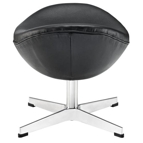 Modway - Glove Leather Ottoman in Black