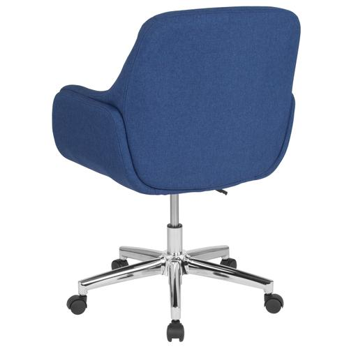 Gallery - Rochelle Home and Office Upholstered Mid-Back Chair in Blue Fabric