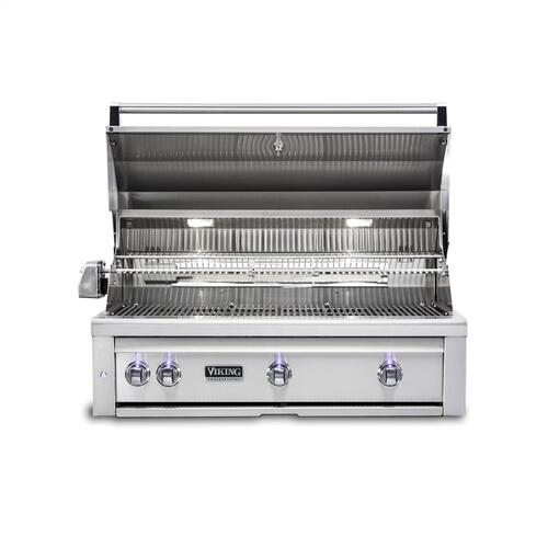 "36""W. Built-in Grill with ProSear Burner and Rotisserie - VQGI5361 Viking 5 Series"