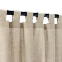 See Details - Sunbrella Canvas Taupe Outdoor Curtain with Tabs