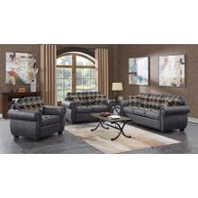 View Product - Hunter Gray Sofa, Loveseat, Chair, Recliner & Ottoman, U8022