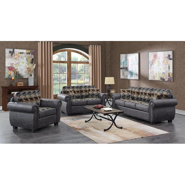 See Details - Hunter Gray Sofa, Loveseat, Chair, Recliner & Ottoman, U8022