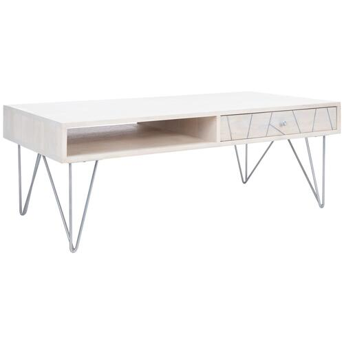Safavieh - Marigold Coffee Table - White Wash / Silver