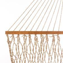 View Product - Single Original DuraCord Rope Hammock - Antique Brown Oatmeal Heirloom Tweed