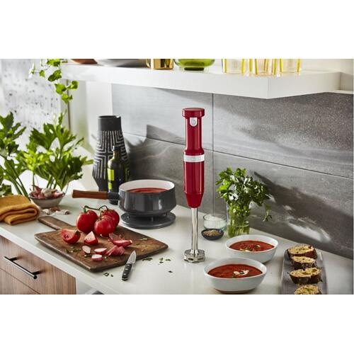 Cordless Variable Speed Hand Blender - Empire Red