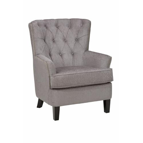 Hudson Accent Chair- Silver