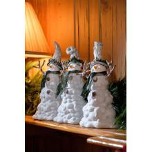 Snow Melt Snowmen w/Tree Hats - Set of 3