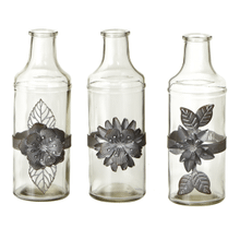 See Details - Tall Bud Vase with Greywash Flower (3 pc. ppk.)