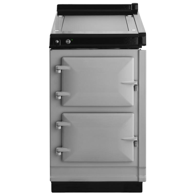 """AGAAga Hotcupboard 20"""" Electric Pearl Ashes With Stainless Steel Trim"""
