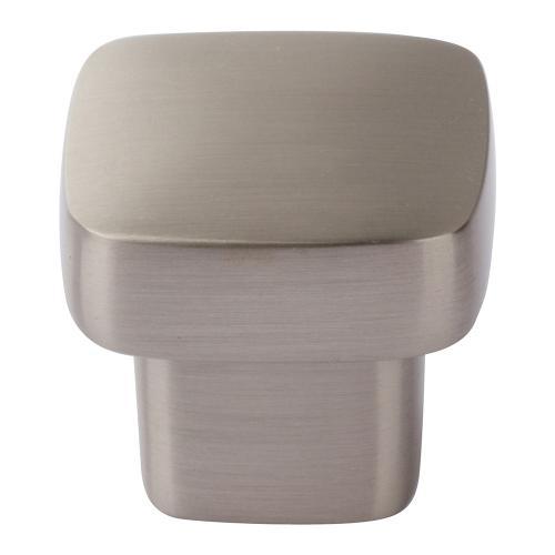 Atlas Homewares - Chunky Square Knob Small 1 Inch - Brushed Nickel