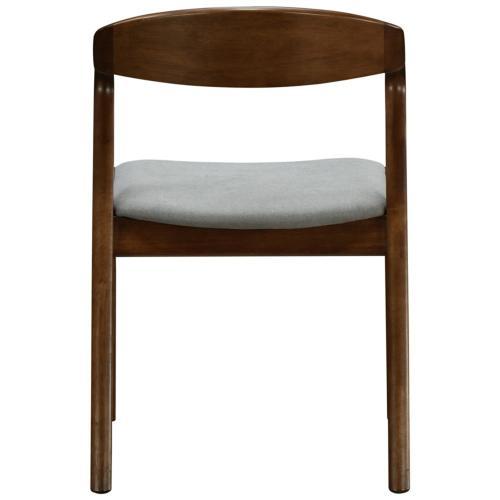 Swansea KD Fabric Dining Side Chair Dark Walnut Frame, Studio Gray