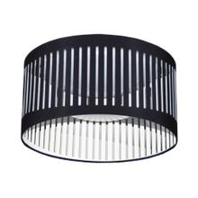14w Slit Drum LED Flush Mount, Black