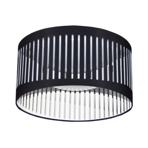 14w Slit Drum LED Flush Mount, Black