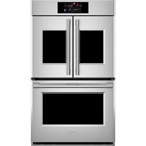 "MonogramMonogram 30"" Smart French-Door Electric Convection Double Wall Oven Statement Collection"