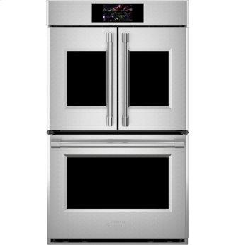 """Monogram 30"""" Smart French-Door Electric Convection Double Wall Oven Statement Collection"""
